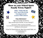 Family Trivia Night- Feb 25th