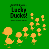 Do You Love a DEAL? Here's a GREAT one! Only SIX spots left! Be a LUCKY DUCK!