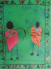 African Masaai People--by Josie