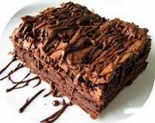 Doubles Chocolat Brownies Avec Un Chocolat Bruine