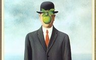 From the Surrealism movement, Rene Magritte's, Son of Man.