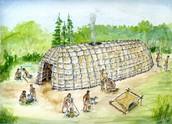 Cartoon longhouse