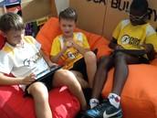 Boys Share Dreambox Progress