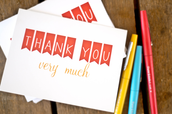 A Note of Thanks to you