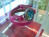 Leather wrap bracelets and Swarovski Austrian Crystals