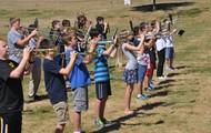 8th Grade Band Students Prepare to March