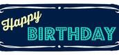 March Birthday's