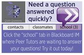 Aviso:  Peer Tutoring Wednesday