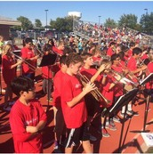 Pony Band performs at games!