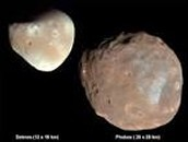 Picture of Mars moons:
