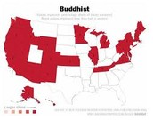 Where Buddhism can be found in the U.S