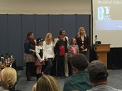 Mrs. Huygens' class at the Board of Education meeting