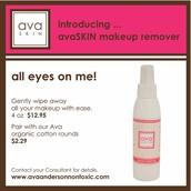 NEW avaSkin makeup remover