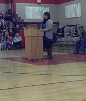 Senior Alyssia Geimer Honoring our Vets.