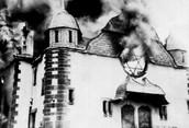 synagogue burnt