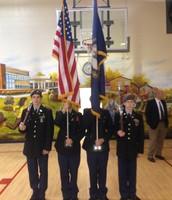 BGHS JROTC Color Guard at Potter Gray