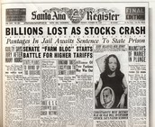 Newspaper about Stock Market Crash