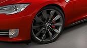 Tesla Red Brake Calipers