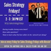 Sales Strategy Fridays!
