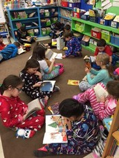 """Read In"" Pajama Day in Mrs. Heuer's Class"