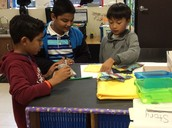 Dylan, Akhil, and Fernando are Working On Making Toys