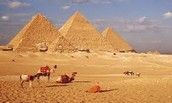 Dry, hot, sunny day in Cairo