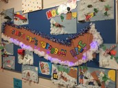 Uncle Dan's Toboggan Ride Collages by Ms Miles Gr. 3 Class