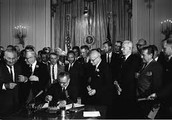 President Johnson Signs Civil Rights Act of 1964