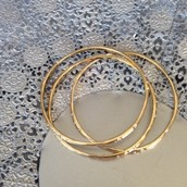Rhea Bangles Gold | 42 (SOLD TO LYNSIE)