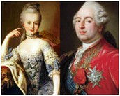 The King Louis XVI and Queen Marie Antoinette, the rulers of France at the time.