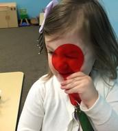 Caroline sees red.