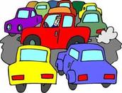 ¡Los problemas de tráfico en nuestro estacionamiento!