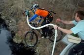 Bike bungee jump