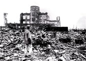 Hiroshima after the bomb hit