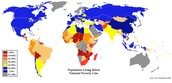 Map of poverty levels around the world