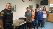 Officer Cabrera and GMS Student Council