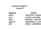 I learn every few weeks, new caesar's english words