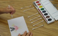 Making a picture using just dots for Dot Day.