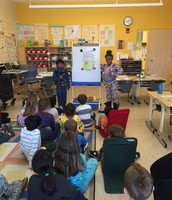 Grade 2 students share their informational writing