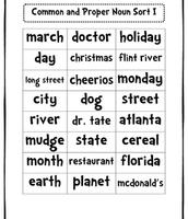 Sorting nouns