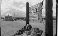 The entrance to Manzanar