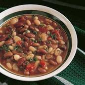 la sopa de frijoles