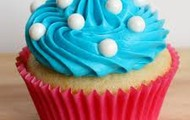 Cute blue berry swarl cupcake