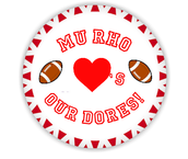 Mu Rho Loves Our Dores Football Button