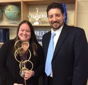 Cash Recieves Teacher Innovator Award