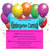 Kindergarten Carnival - Saturday, April 12th