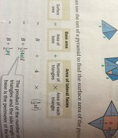 Using the net of a pyramid to find the surface area of the pyrmid