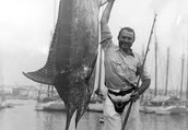 Hemingway fishing for marlin