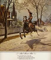 Paul Rever mide night ride