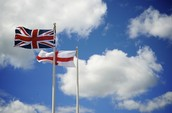 United Kingdom and England Flags